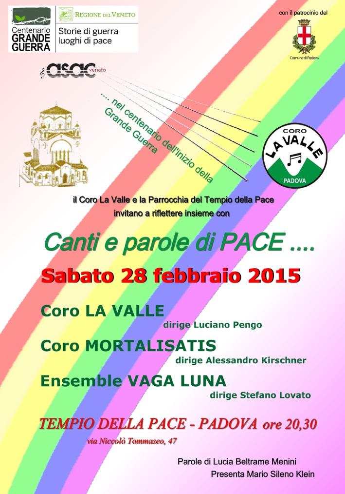 canti di pace_locandina